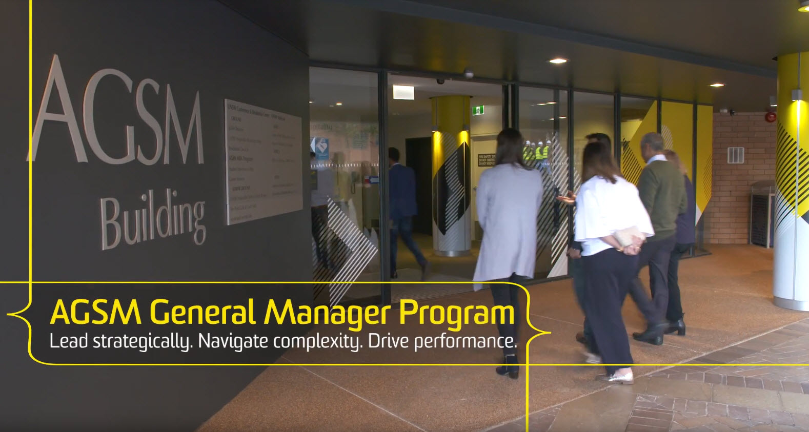 The AGSM General Manager program