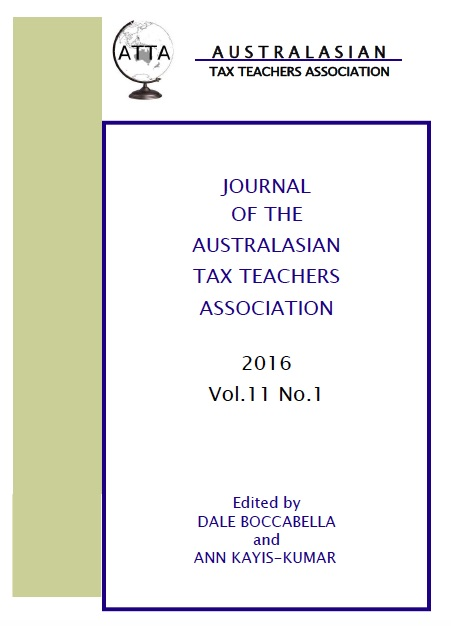 Current Issue of the Journal of the Australasian Tax Teachers Association