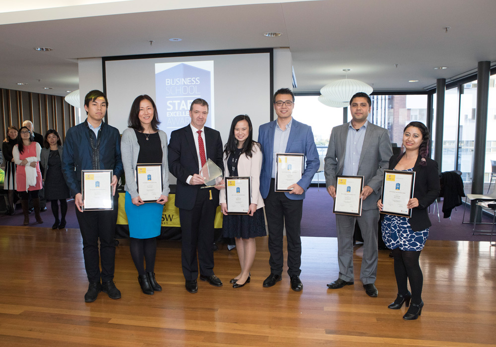 Celebrating staff achievement at UNSW Business School