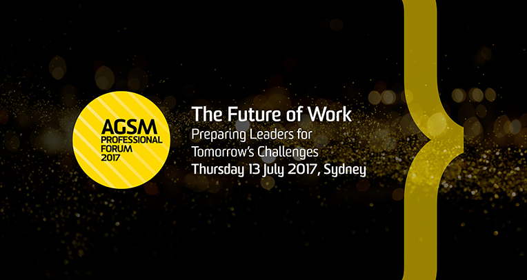 AGSM Professional Forum : The Future of Work