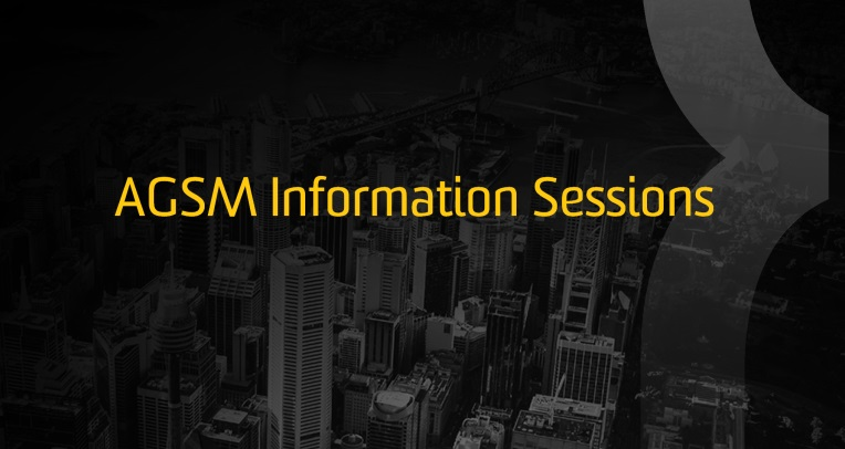 AGSM Information Sessions