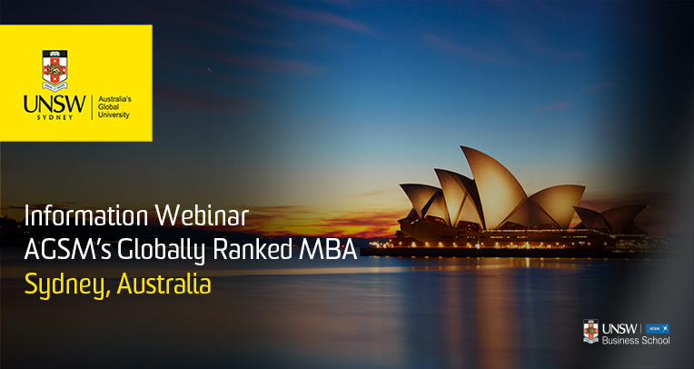 AGSM Full-Time MBA Information Webinar
