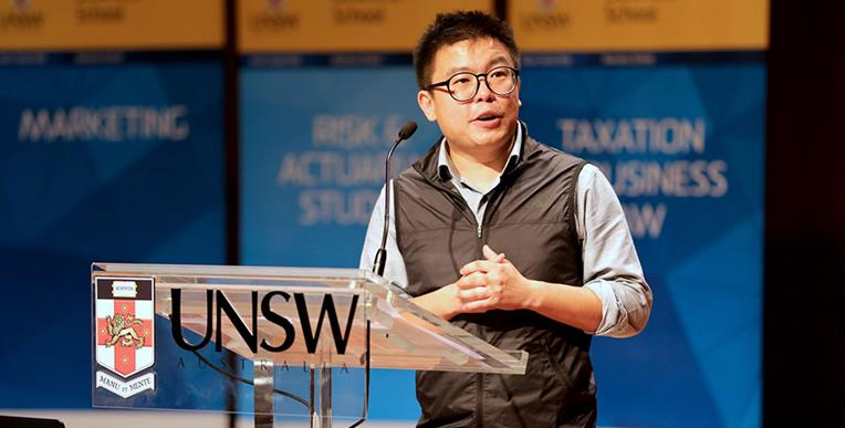 CEO of AirTasker Tim Fung inspires at undergraduate orientation