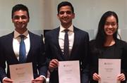 Triumphant trio win national banking challenge
