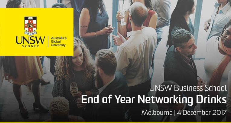 Melbourne: End of Year Networking Drinks | UNSW Business School