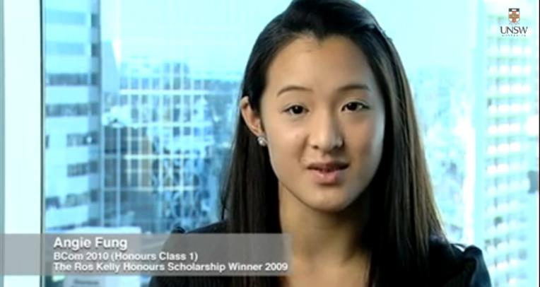 Angie Fung talks about her scholarship