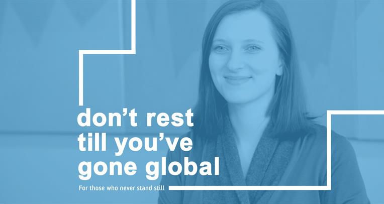 Don't rest till you've gone global - play video