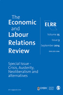 The Economic & Labour Relations Review latest issue