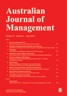 Australian Journal of Management latest issue
